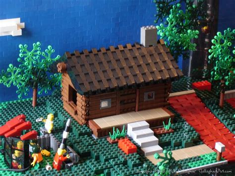 lego log cabin lego log cabins gallaghersart