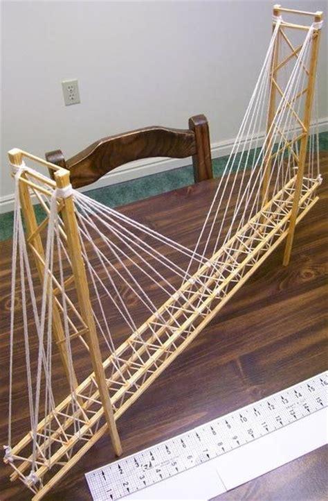 Diy Suspension Bridge 54 Span Toothpick Suspension Bridge Garrett S Bridges