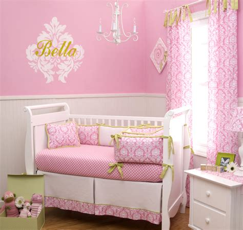 pink baby bedroom ideas 15 pink nursery room design ideas for baby girls home 16700 | 15 candy pink damask crib b