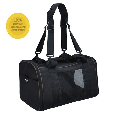 Pet Carriers Airline Approved In Cabin by Pawfect Pet Large Black Soft Sided Travel Pet Carrier For Or Cat