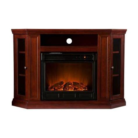 Home Depot Electric Fireplace Tv Stand by Southern Enterprises Claremont 48 In Convertible Media Console Electric Fireplace In Cherry