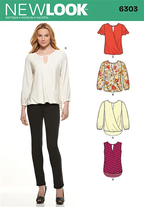 pattern review for new look 6302 new look 6303 misses blouse with length sleeve variations