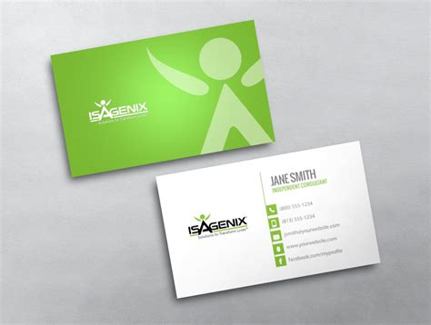 isagenix business card template 4 isagenix business card 07