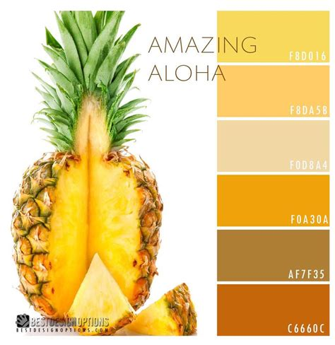 pineapple color pineapple color palette he bright yellows of pineapple
