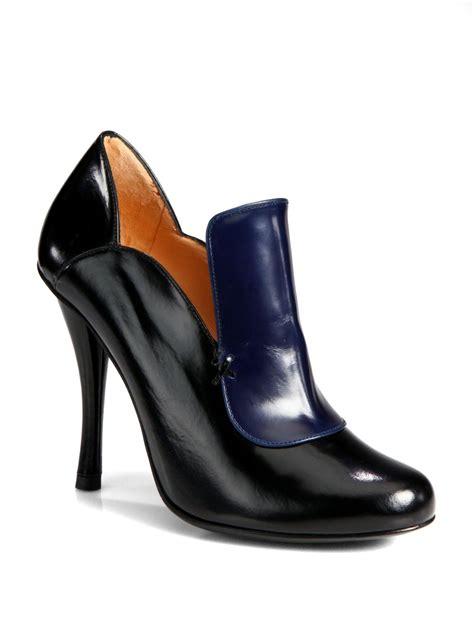 black loafer pumps robert clergerie bi colour leather loafer pumps in blue
