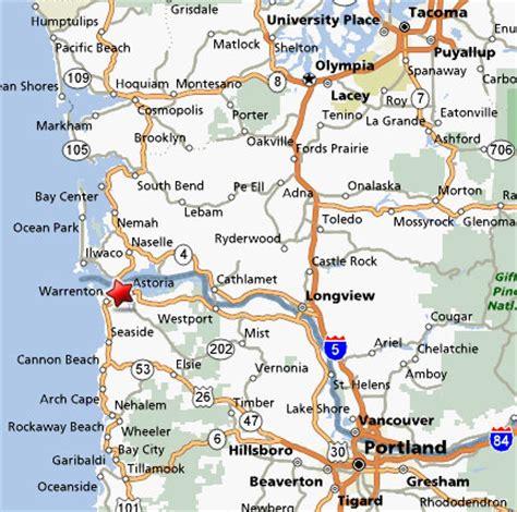 map astoria oregon sighting reports 2006