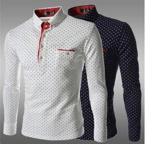 guitar blue pattern style men s clothing t shirts s m l xl mens long sleeve polo shirts ebay