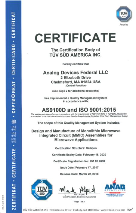 analog devices federal chelmsford massachusetts