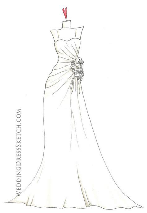 Brautkleider Zeichnen Lernen by How To Draw A Wedding Dress Step By Step Www Pixshark