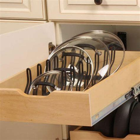 kitchen pull out drawers for pot storage front porch cozy kitchen pot pan lid holder cabinet pull out drawer