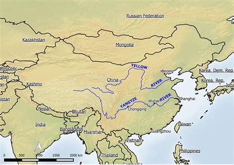 world map rivers huang he why is the yellow river yellow elvis