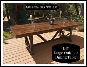 Build Outdoor Dining Table Diy Large Outdoor Dining Table Shanty 2 Chic