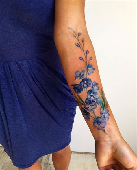 delphinium tattoo best 25 larkspur ideas on minimal