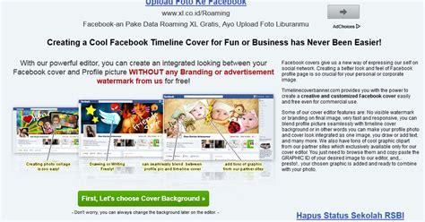 membuat sul facebook keren cara membuat foto profil dan foto sul facebook yang