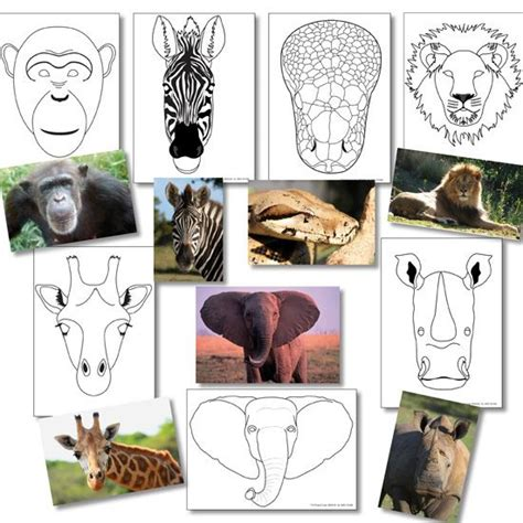 african animal mask templates useful for final assembly
