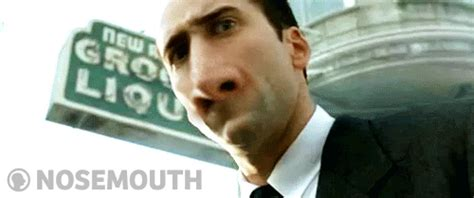What Movie Is The Nicolas Cage Meme From - nosemouth
