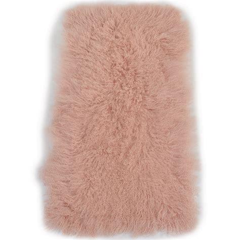 hair rug mongolian fur rug pink curly hair
