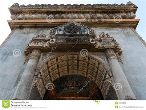 Sanjaya Literally Means Victory by Patuxai Landmark Of Laos Vientiane Stock Image