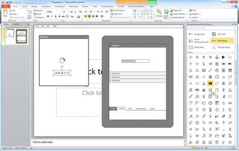 powerpoint wireframe template ui design images