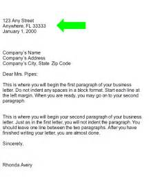 collection business letter heading part of business letter