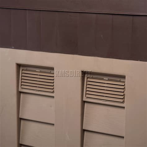 Low Shed by Starplast Outdoor Plastic Garden Low Shed Box Chest Storage Unit Tools Chocolate