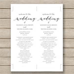 fan page templates free 25 best ideas about wedding program templates on