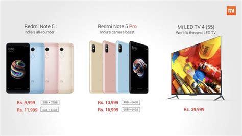 Xiaomi Mi 5 Mi 5 Pro xiaomi launches redmi note 5 note 5 pro and mi led tv 4
