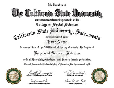 Cal State Universities With Mba Degrees by Sles Of Diploma Templates