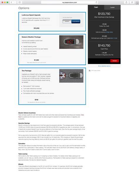 Tesla Model X Options Tesla Model X Revealed Via Configurator 560kw