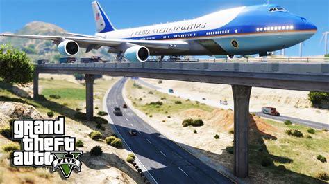 air force one installation gta 5 air force one plane emergency crash landing on