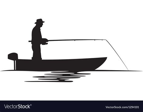 boat clipart silhouette fisherman in a boat silhouette royalty free vector image