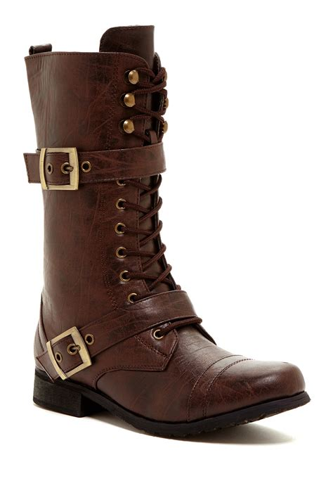 bucco boots bucco lace up buckle boot nordstrom rack