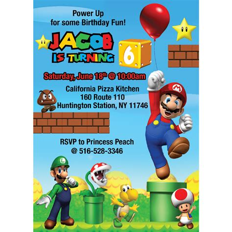 Images Baby Shower At Pool Best Games Resource Mario Invitations Template Free