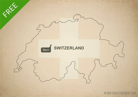 free vector map free vector map of switzerland outline one stop map