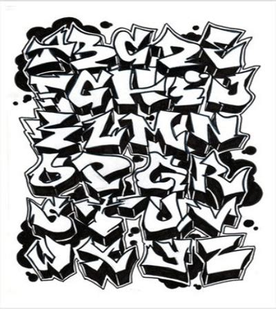 grafiti   graffiti alphabet style