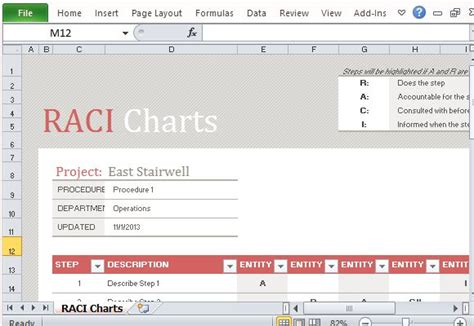 Free Raci Chart Template For Excel Raci Template Excel Free