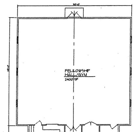 church fellowship hall floor plans church plan 120 lth steel structures