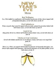 luckee new year menu new year s menu specials