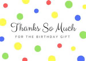 thank you for the birthday card free birthday thank you card printables