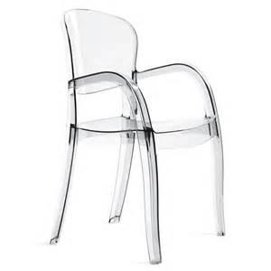 chaise empilable avec accoudoirs en polycarbonate joker