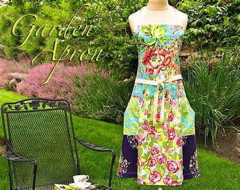 sewing garden apron garden apron made from fat quarters tutorial from sew 4