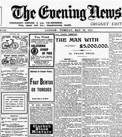 The Evening News Newspaper 1901 Silver S Safety The Bicycle Museum