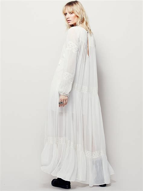 Jessy Embroidery Dress lyst free maxi dress in white