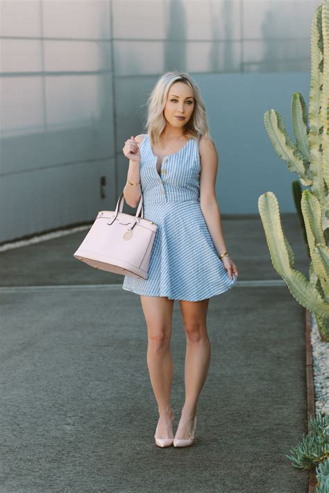 light blue and white striped dress blue and white striped dress