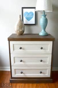 two toned ikea rast dresser hack brick house
