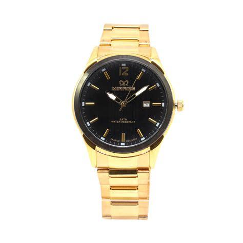 Jam Tangan Mirage Black Gold harga mirage jam tangan formal pria stainless steel black gold mrg82215chr