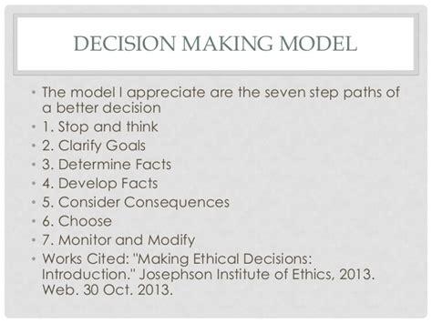the seven decisions personal ethics code bob frisco