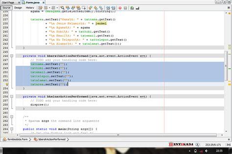 tutorial netbeans belajar belajar netbeans membuat form biodata sederhana dengan