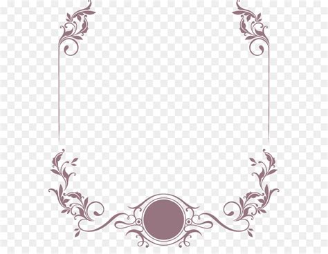 Wedding Border Vector by Wedding Invitation Curly Grass
