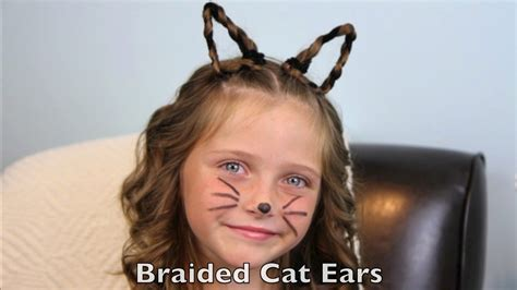 halloween hairstyles for toddlers braided cat ears halloween hairstyles cute girls